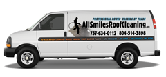 All Smiles Roof Cleaning van